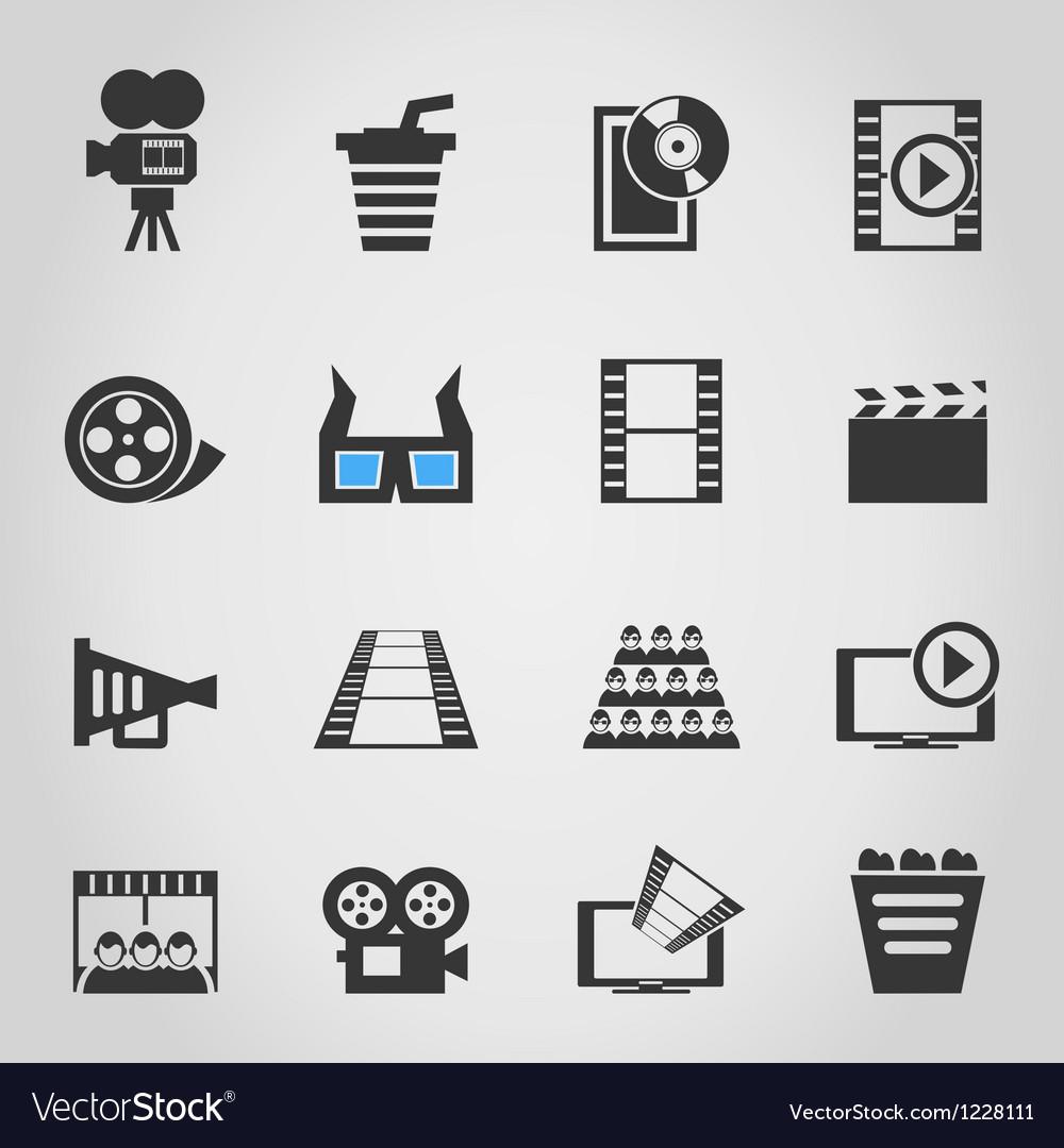 Cinema icons4 vector image