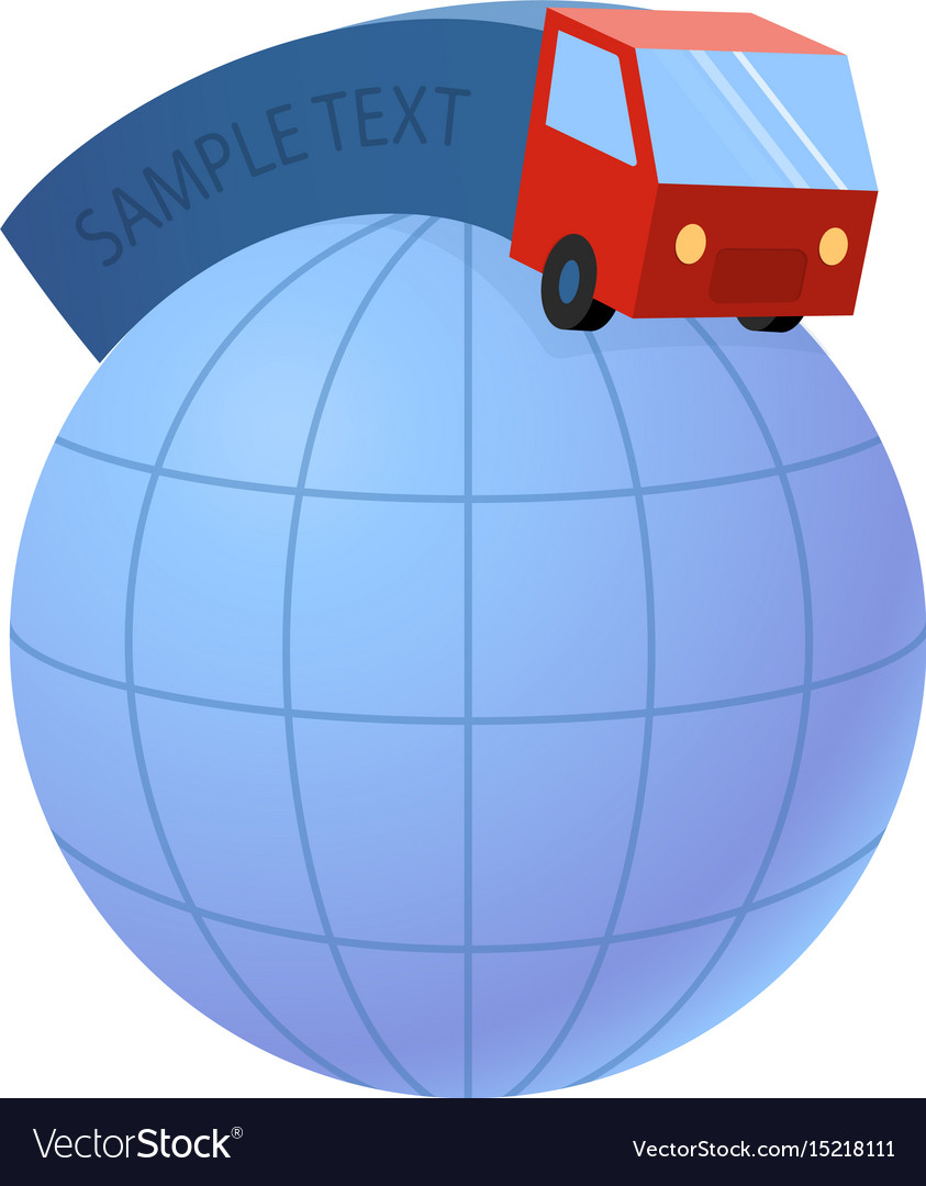 Delivery truck and world earth globe - trucking