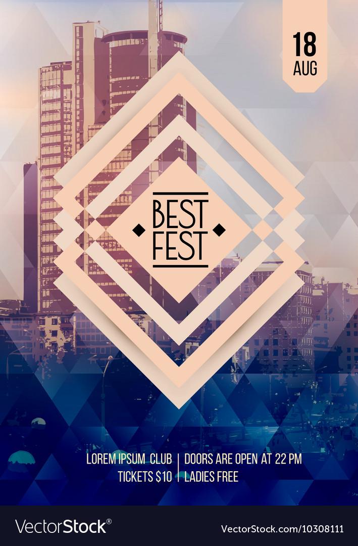 Flyer template for Best festival