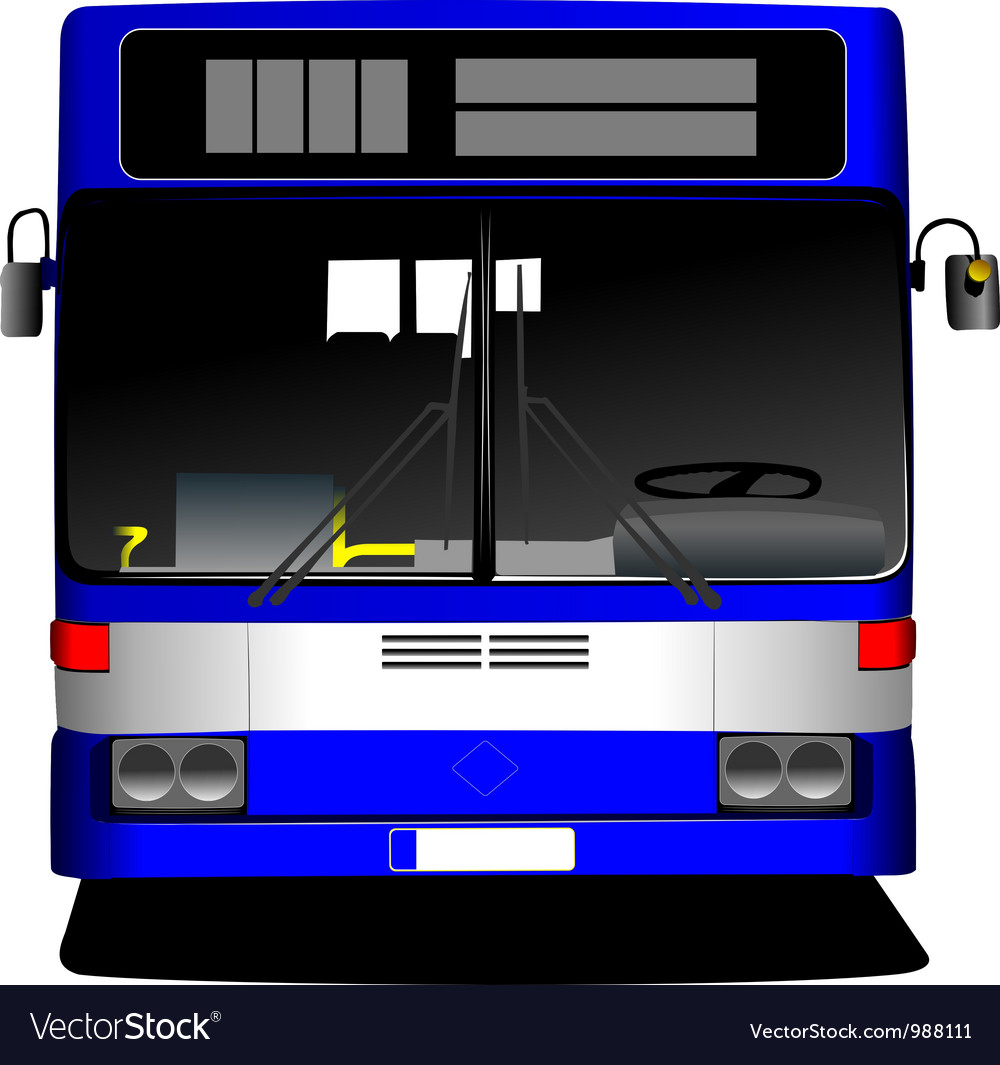 Front view of bus vector image