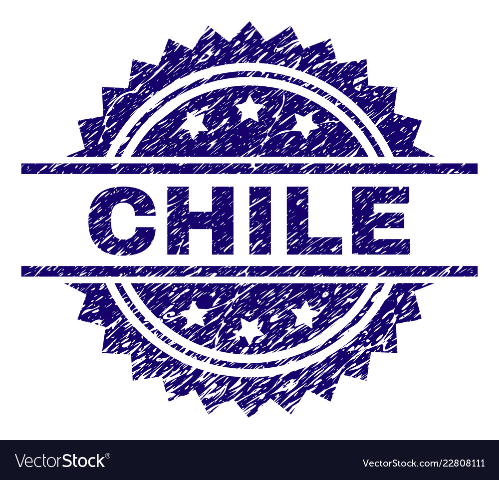 Grunge Textured Chile Stamp Seal Vector Image
