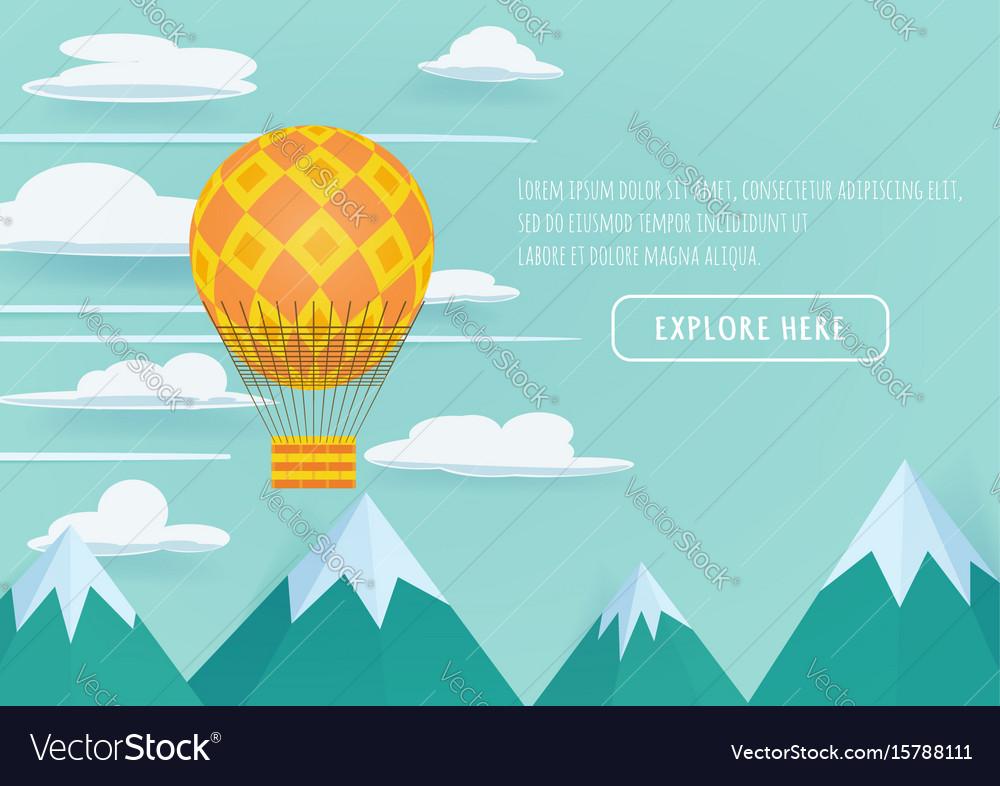 Hot air balloon festival vector image