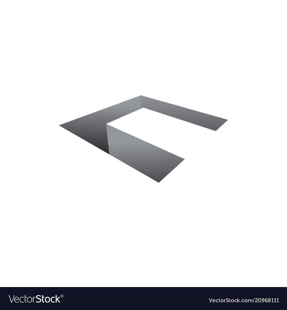 Letter c icon 3d symbol square design type