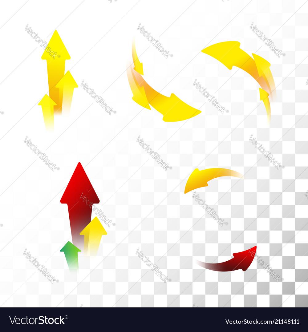 Set of arrow icons flat