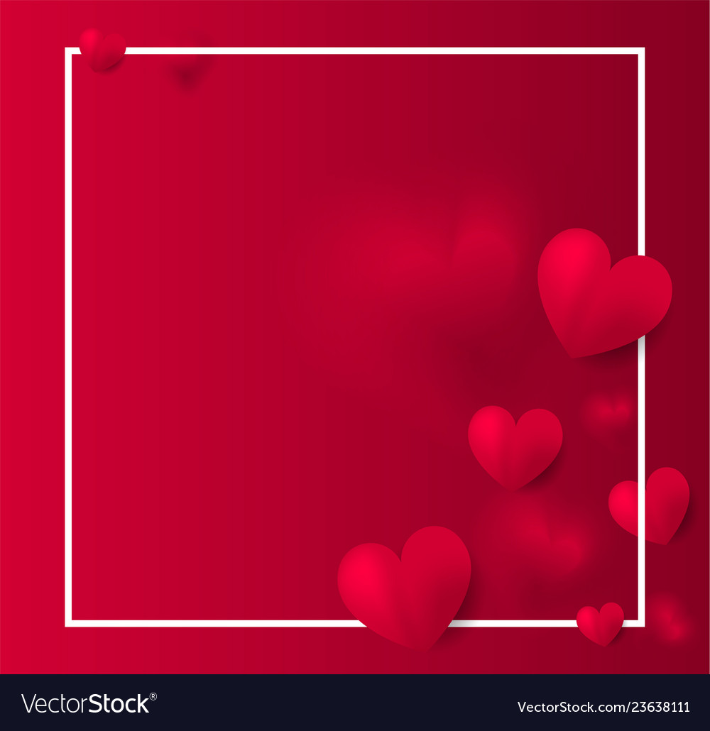 Valentines day red background with red hearts