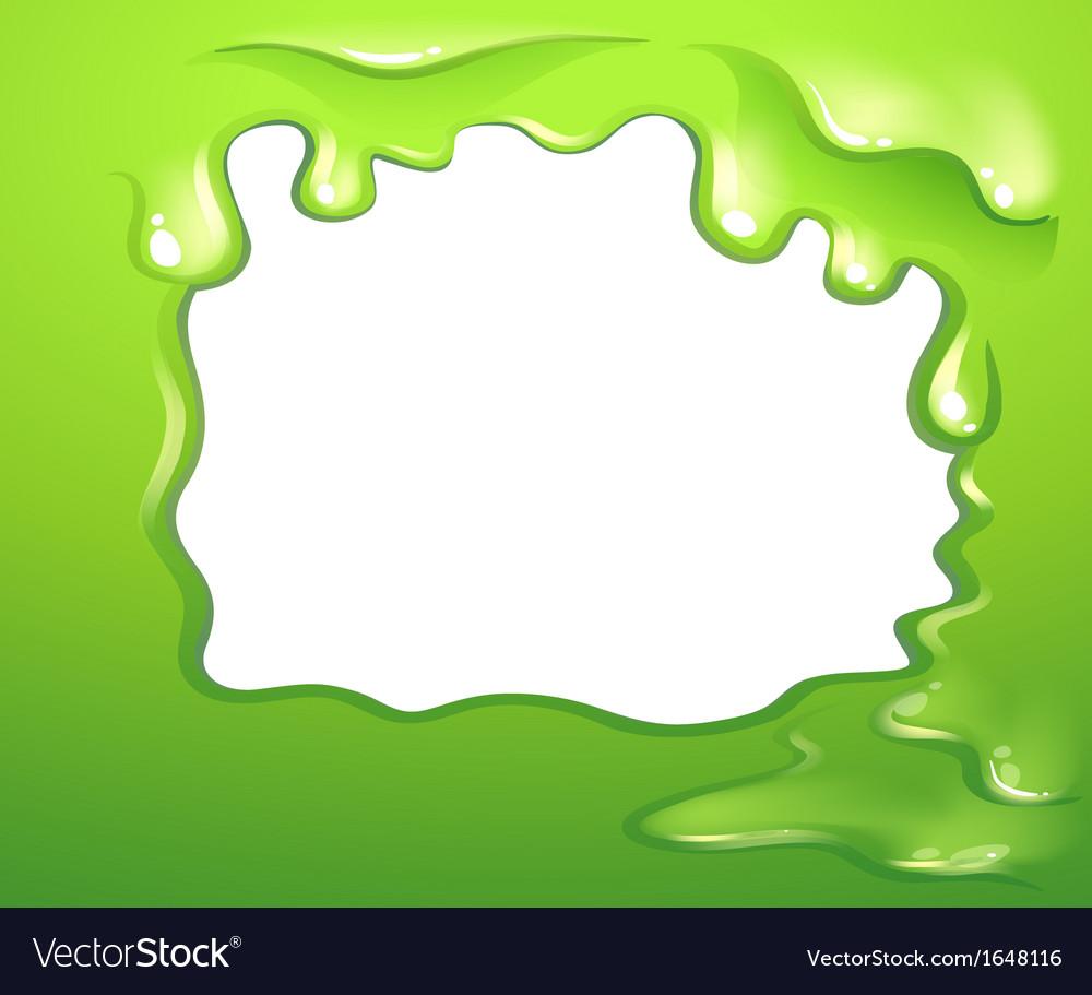 a green border design vector image