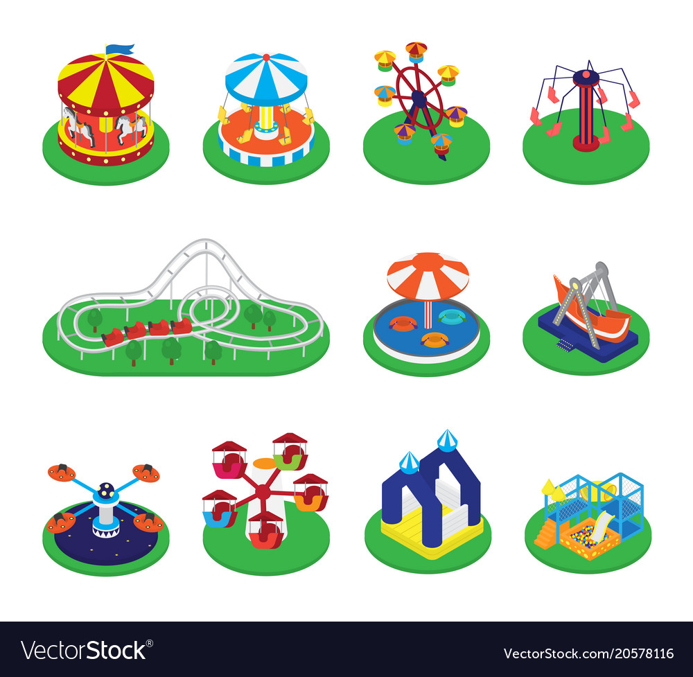 Carousel merry-go-round or roundabout and
