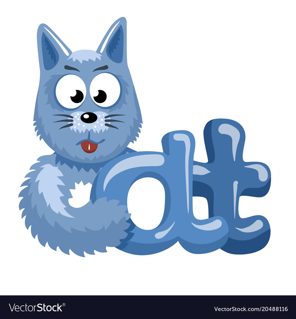 Cat logotype vector image