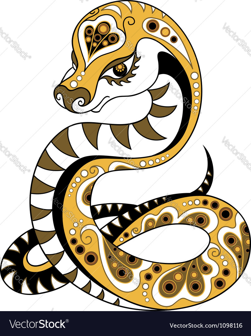 Chinese Horoscope Year Of The Snake Royalty Free Vector