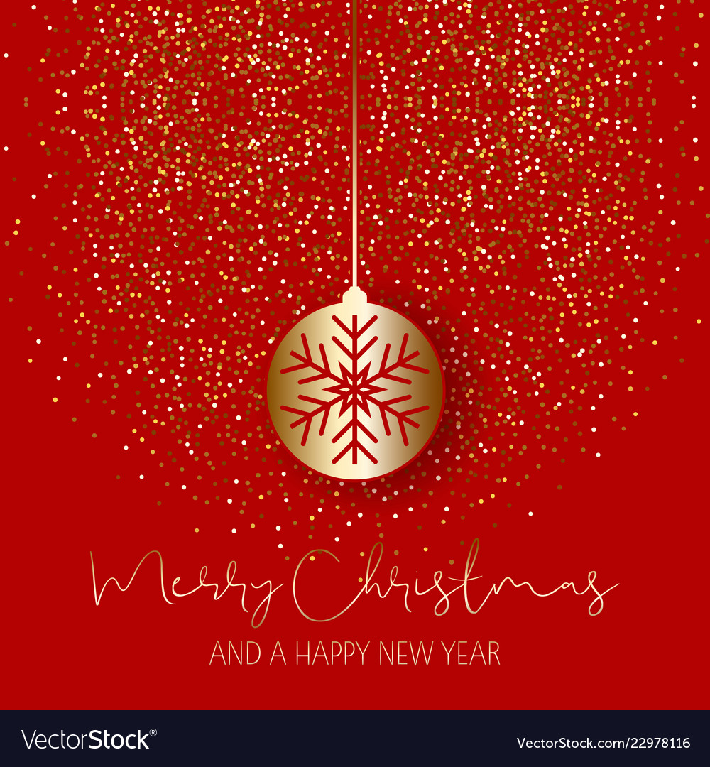Christmas bauble on glitter background