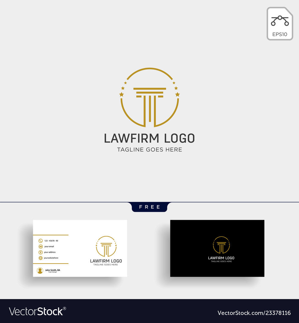 Law firm advocate creative logo template with