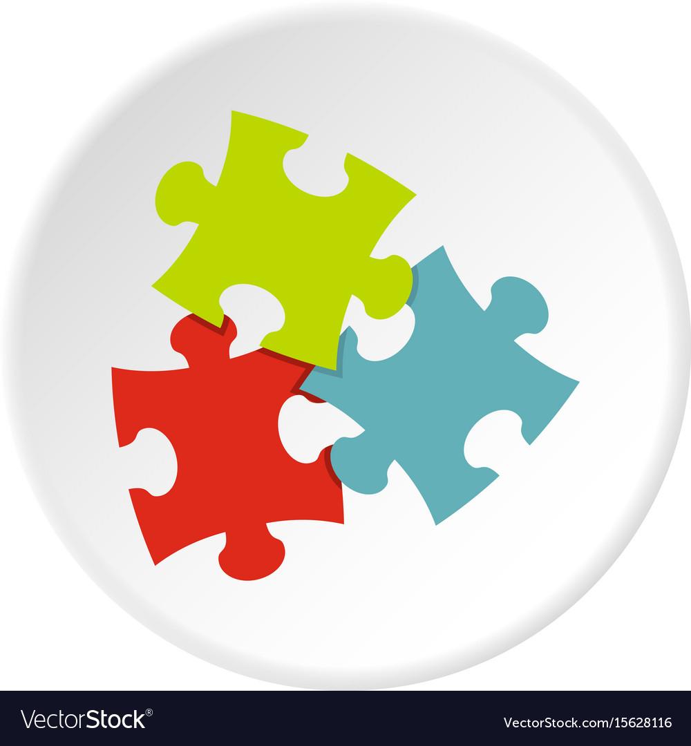 Puzzle icon circle