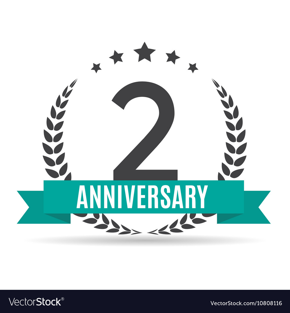 Template logo 2 years anniversary royalty free vector image template logo 2 years anniversary vector image altavistaventures Image collections