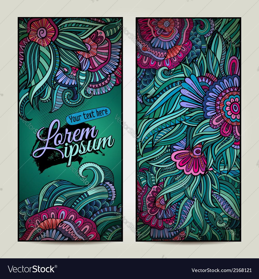 Abstract decorative floral backgrounds