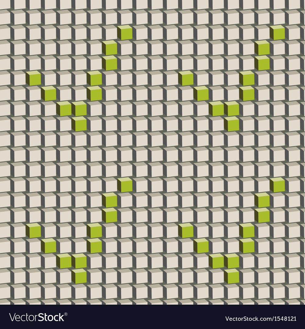 Abstract seamless pattern with grey cubes and