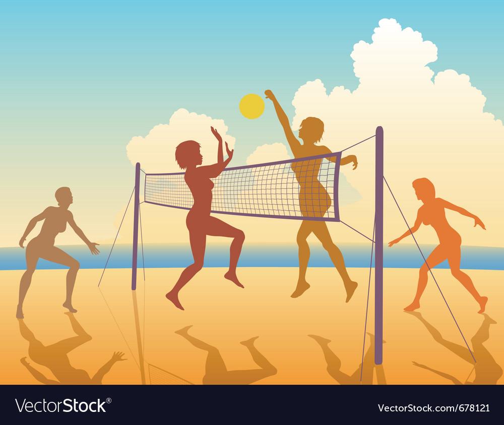 Beach game vector image