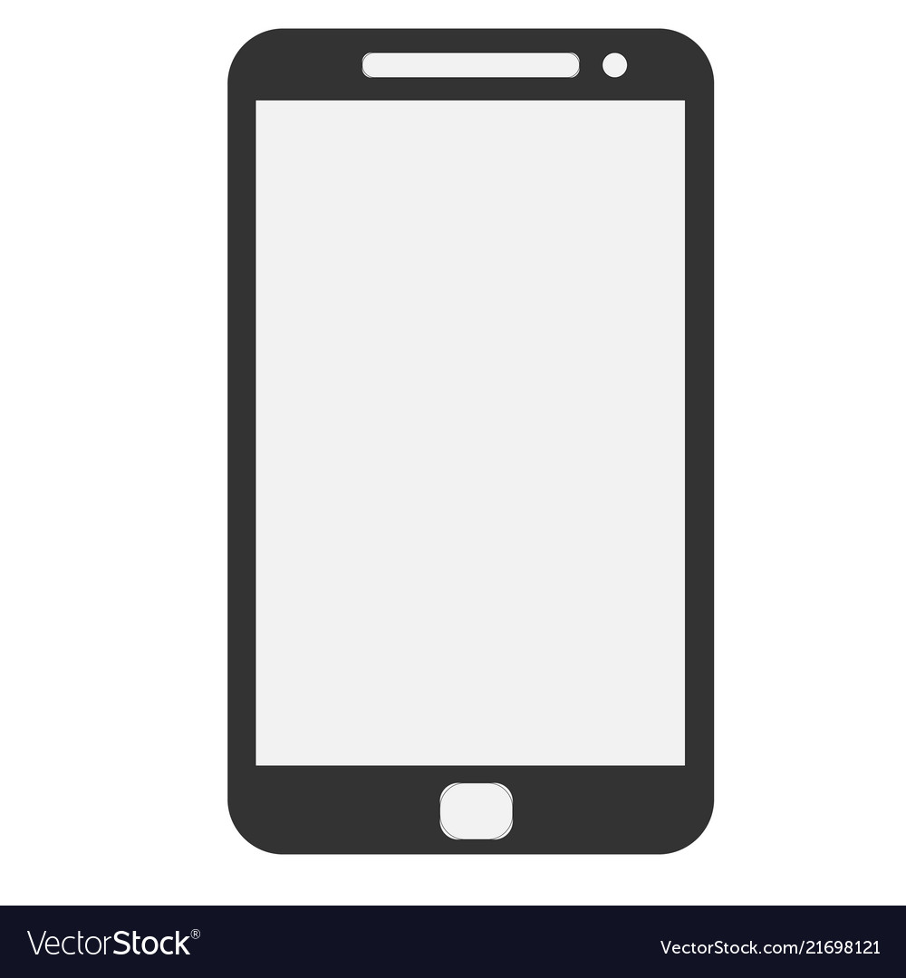 Black modern realistic smartphone with