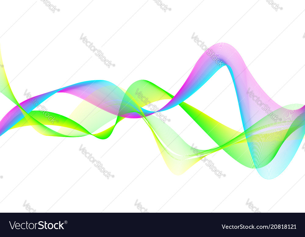 Bright wavy color background