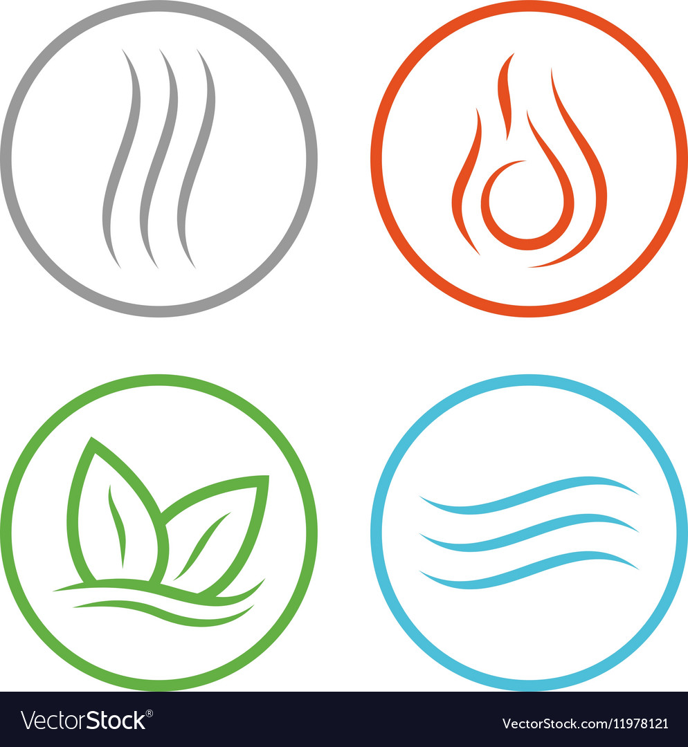 Four elements icons