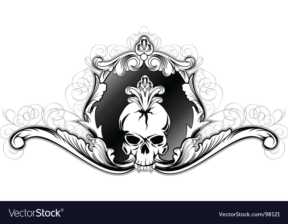 Skull in frame vector image