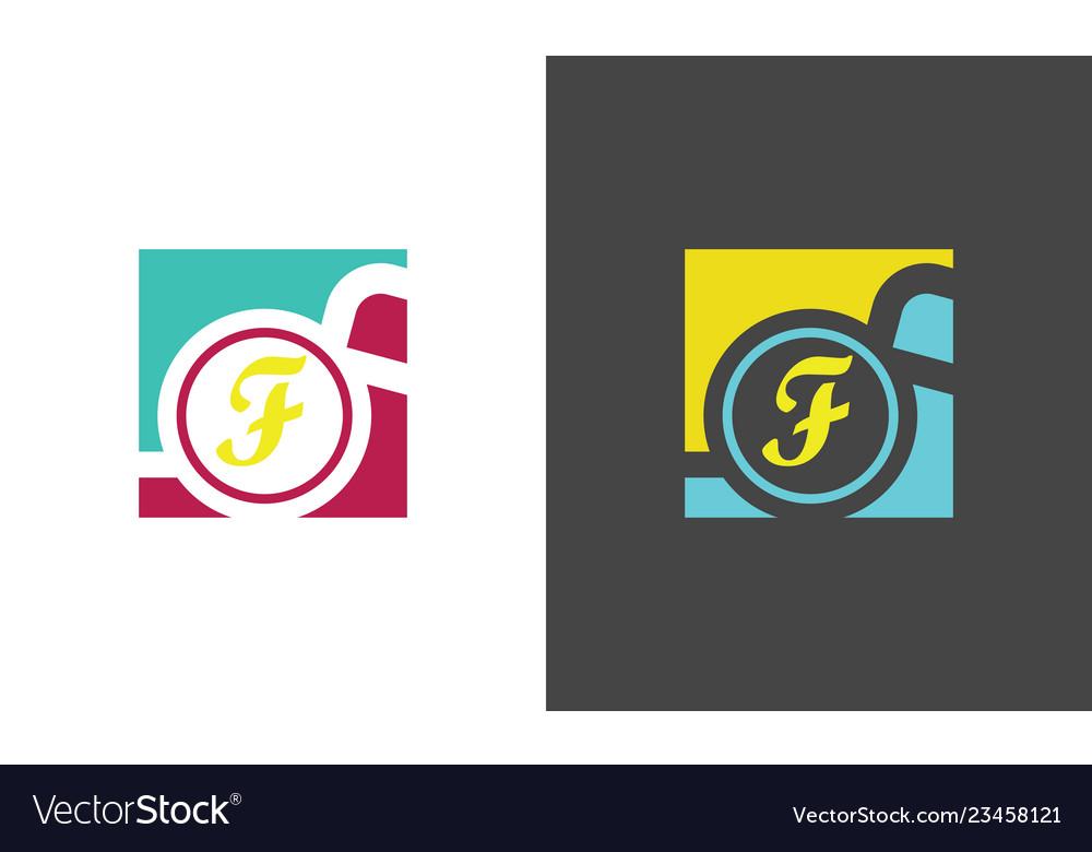 Square letter f company logo
