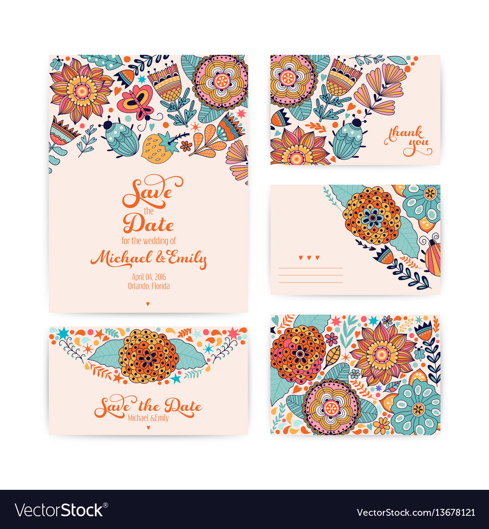 Wedding invitation template envelope thank you