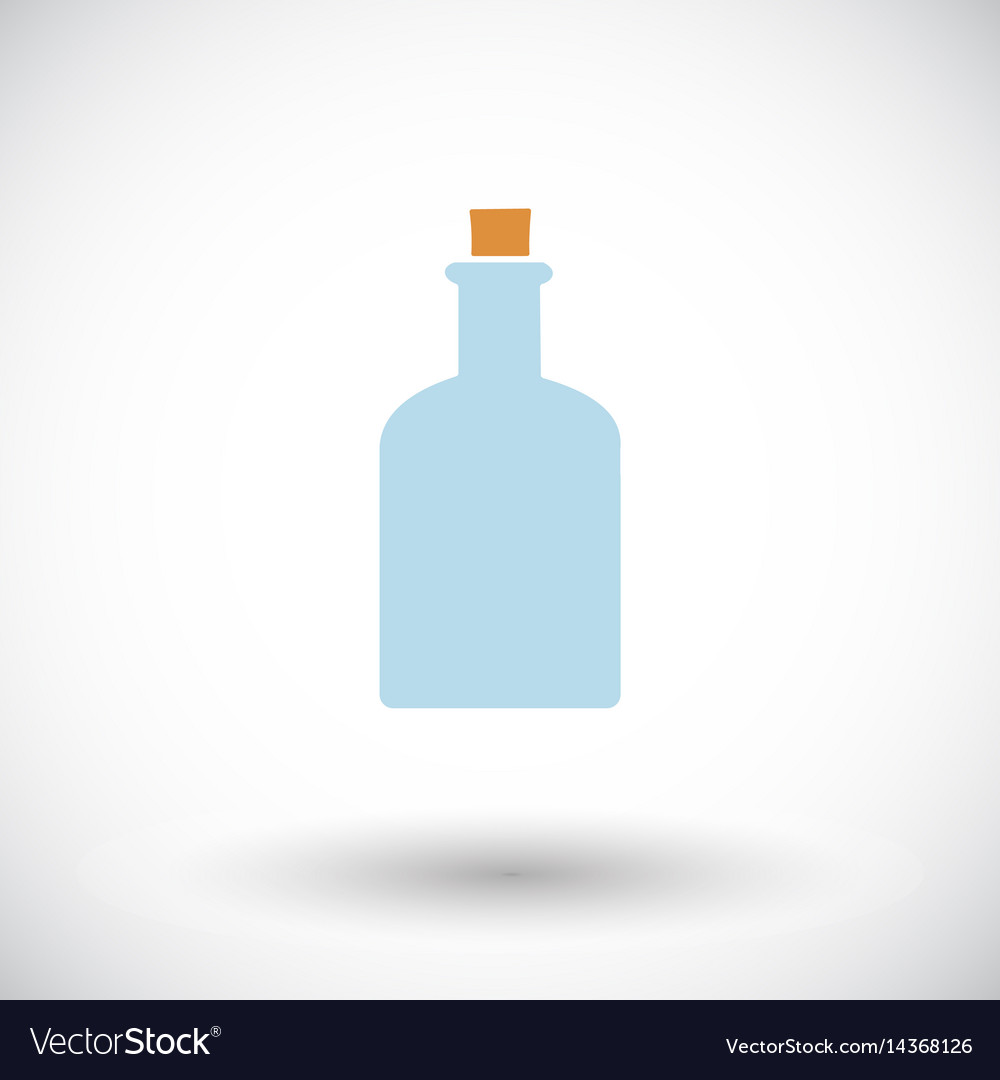 Bottle flat icon