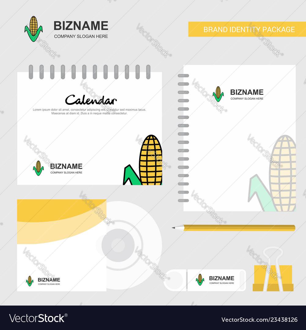 Corn logo calendar template cd cover diary and