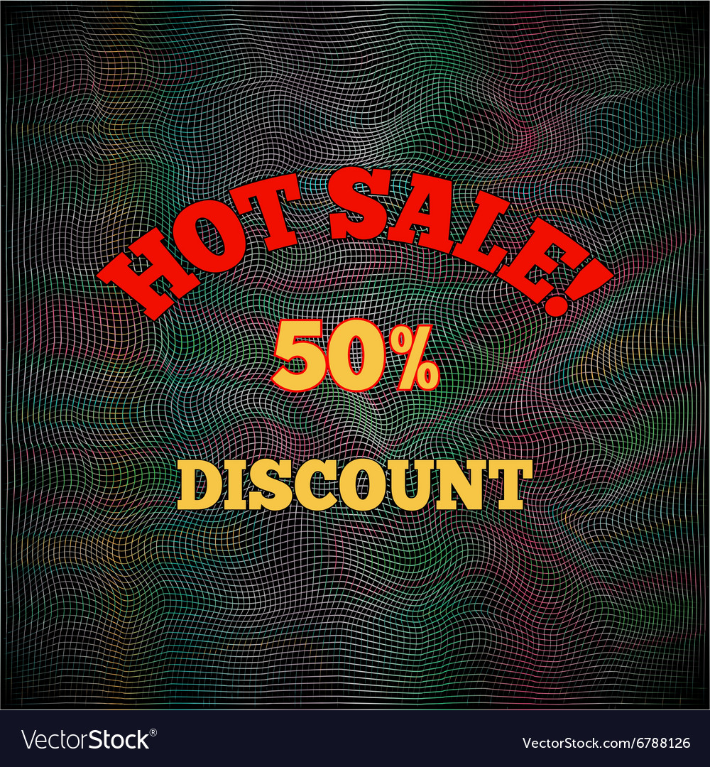 Hot sale poster pattern Text letters on black vector image