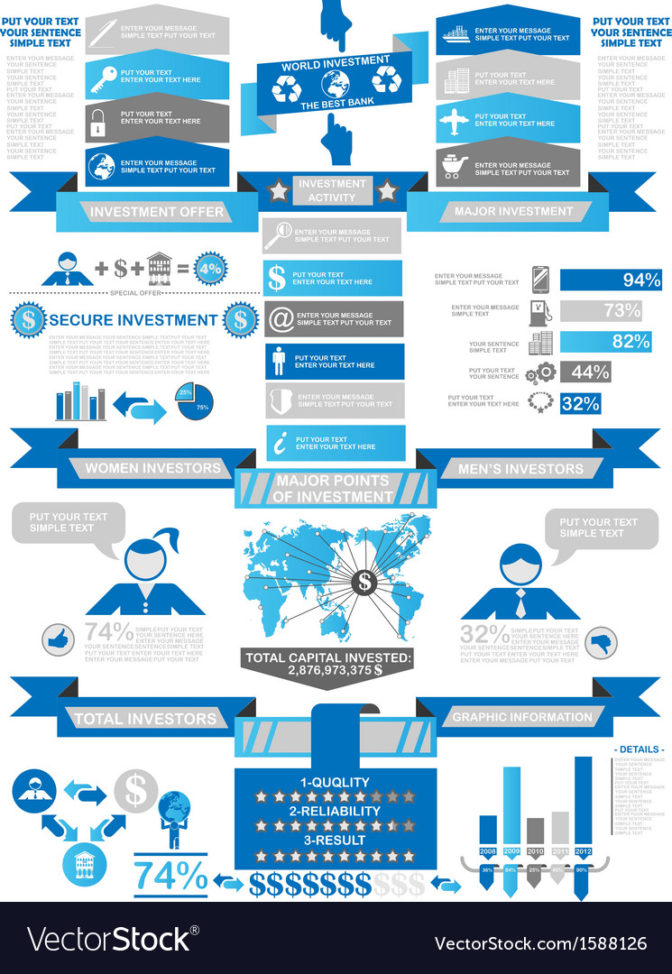 INFOGRAPHIC DEMOGRAPHICS BUSINESS BLUE