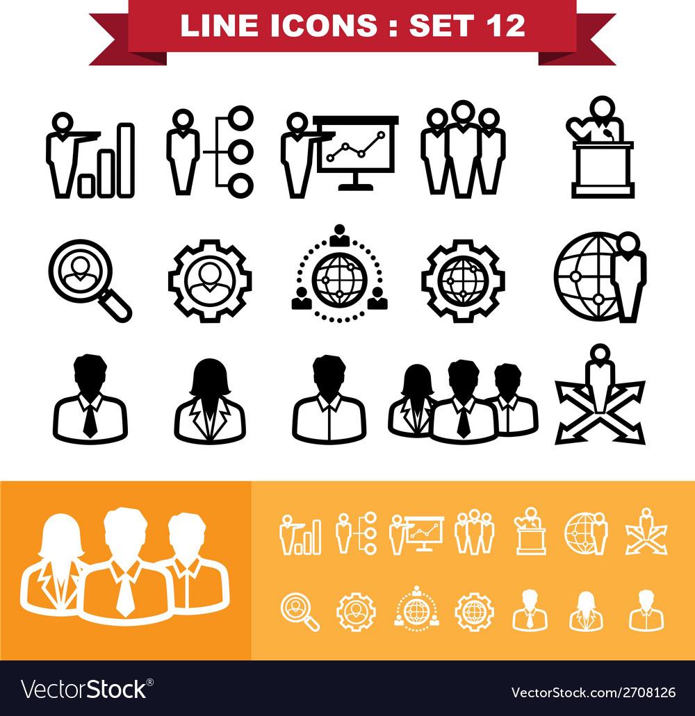 Line icons set 12