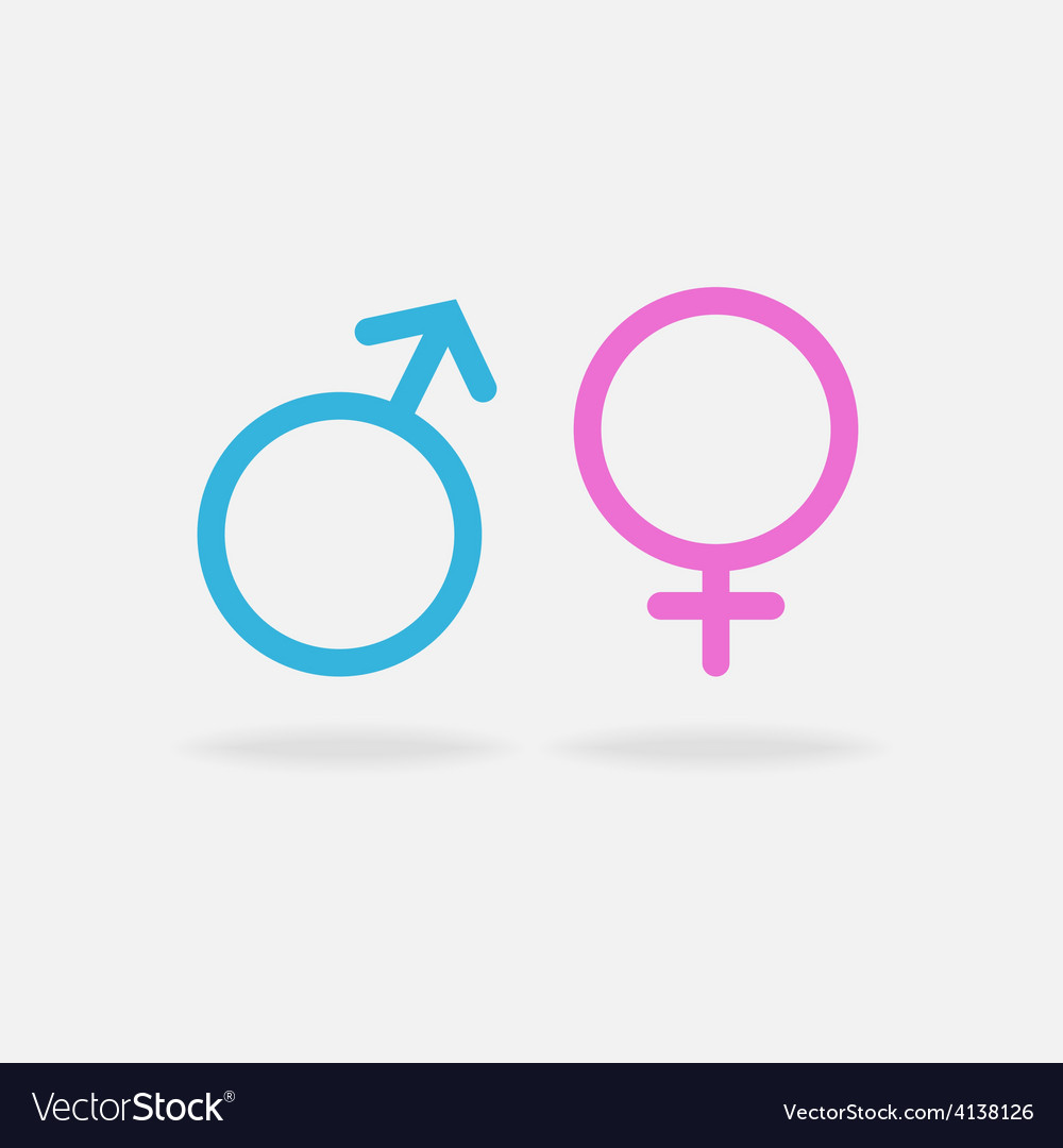 Male and female sexual orientation icon vector image