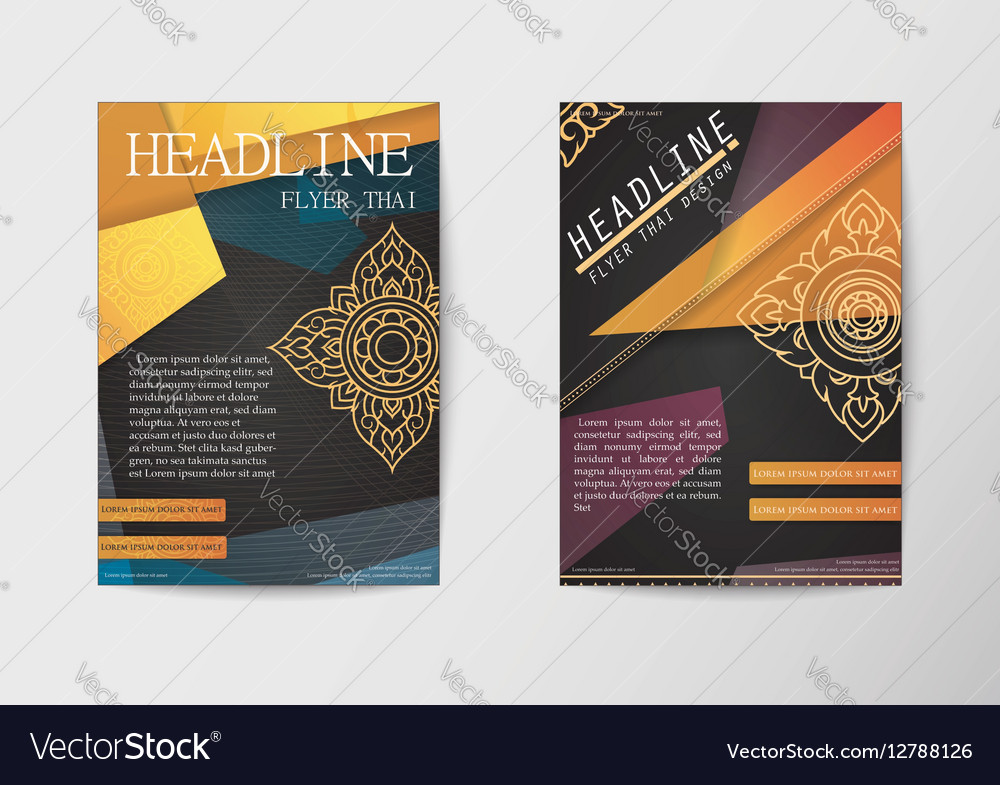 Report brochure covers business corporate identity