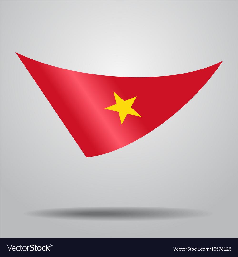 Vietnamese flag background