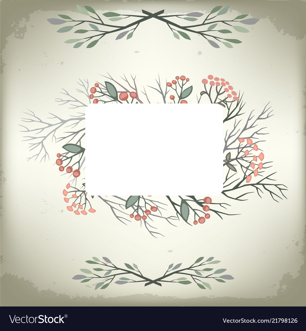 Vintage romantic background with nice floral frame