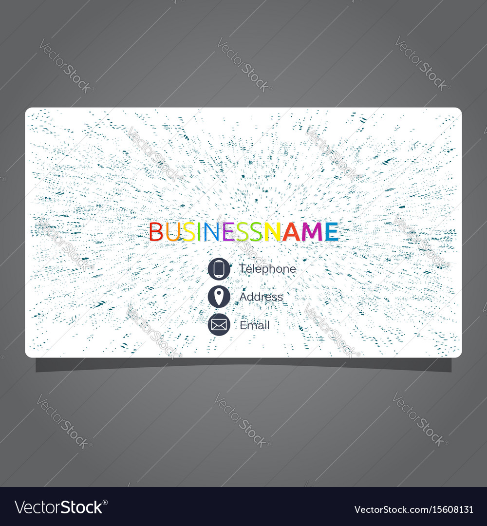 Business card concept vector image