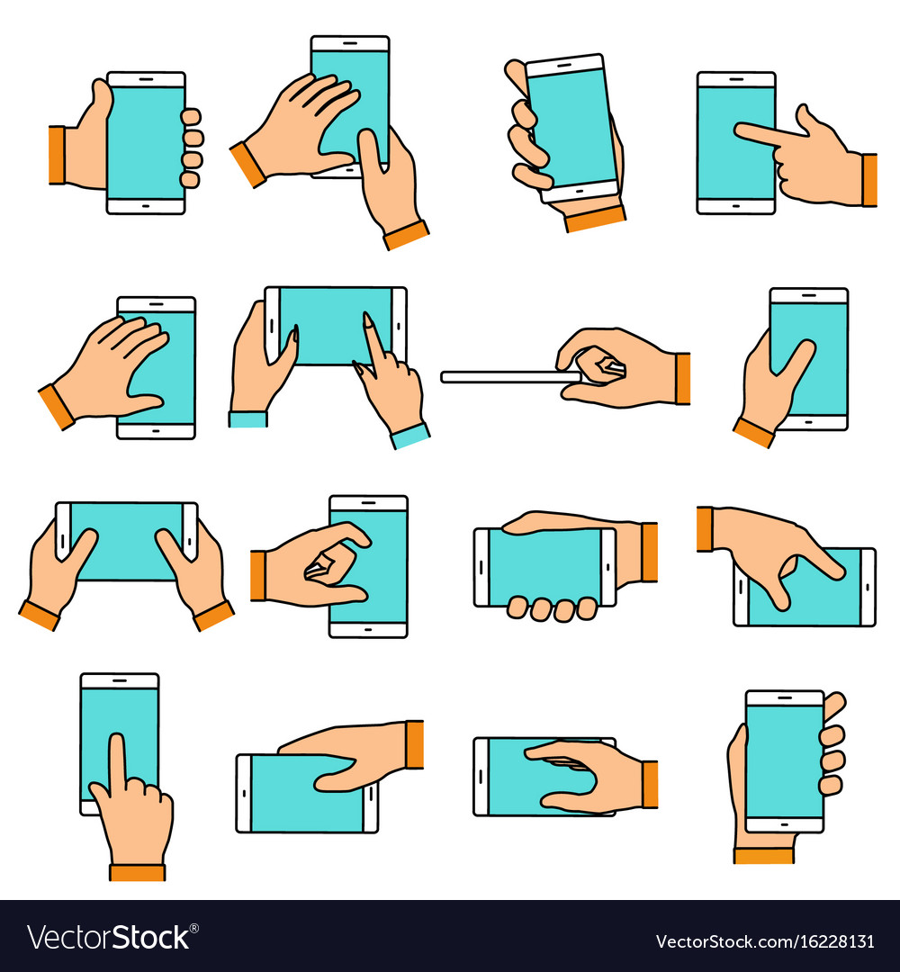 Hand gesture on the touch screen