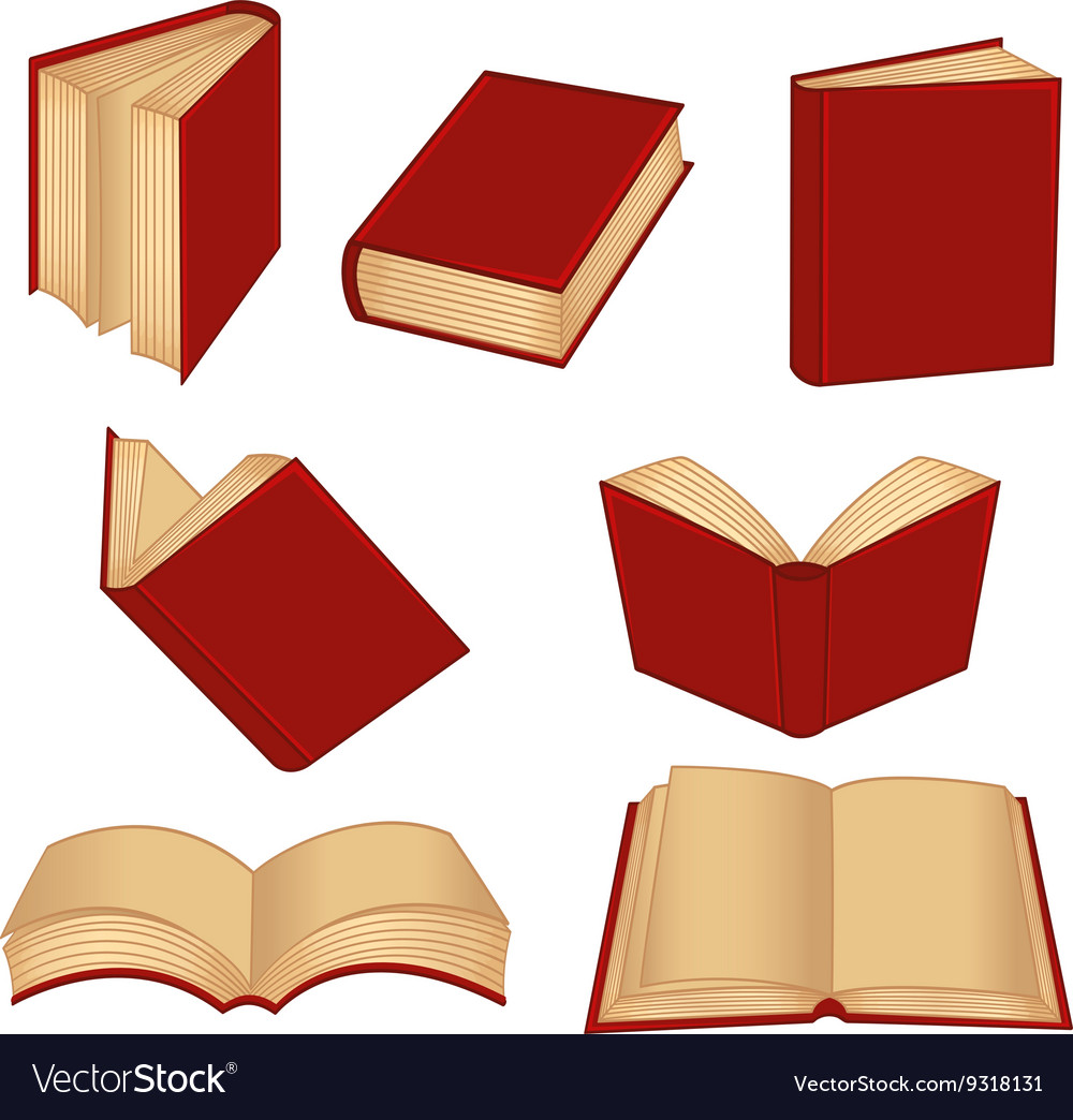 Set of isolated red book
