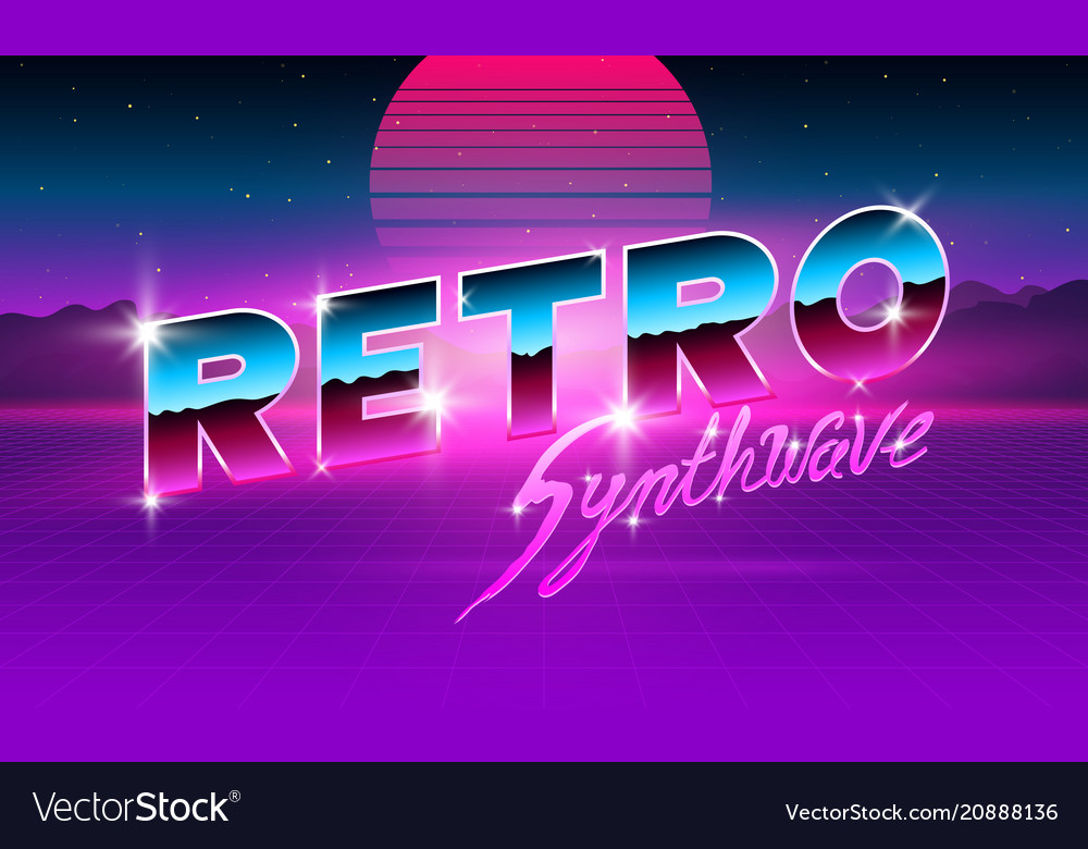 80 s purple neon retro font futuristic metal