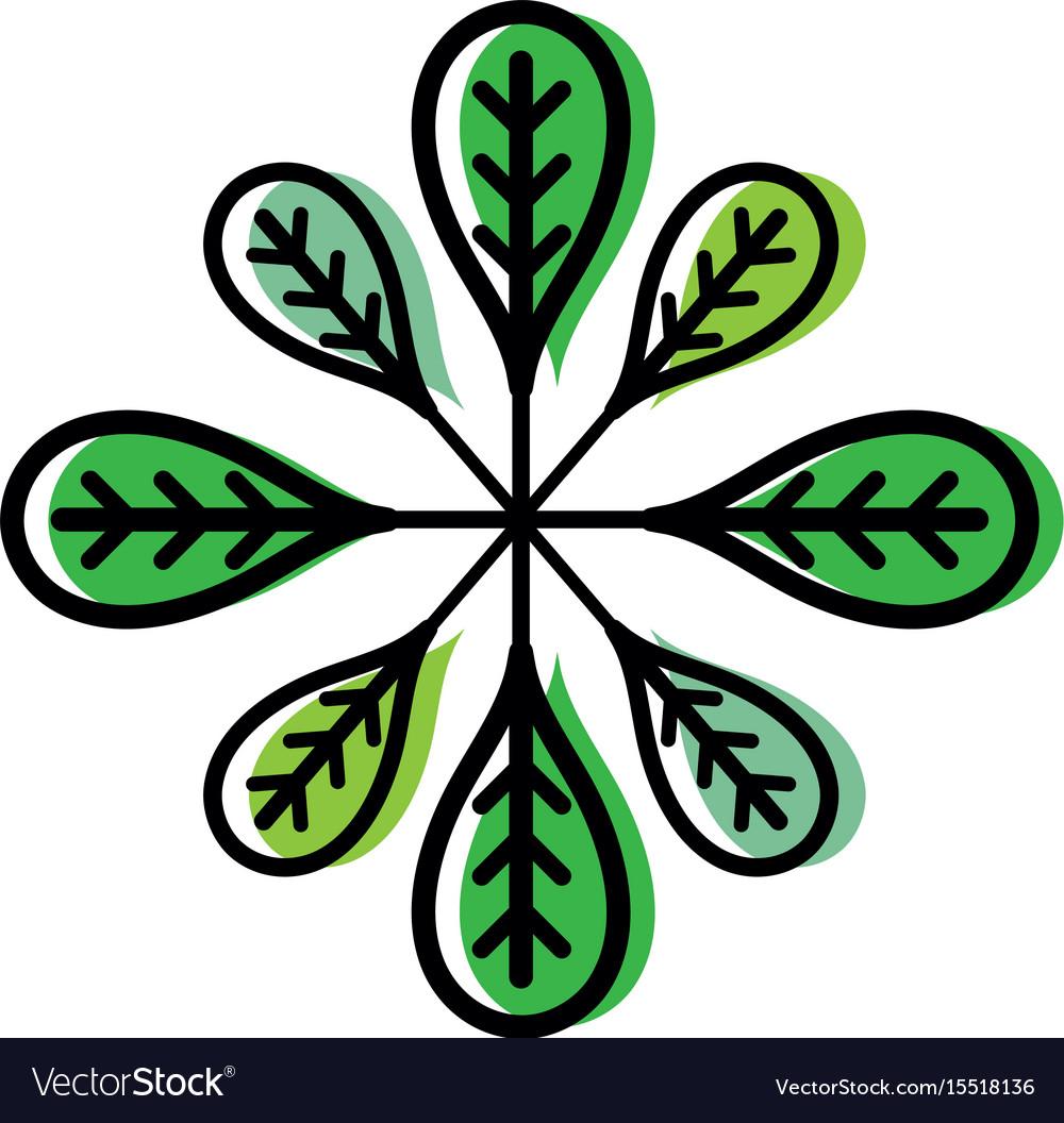 Botany leaves to ecology care symbol