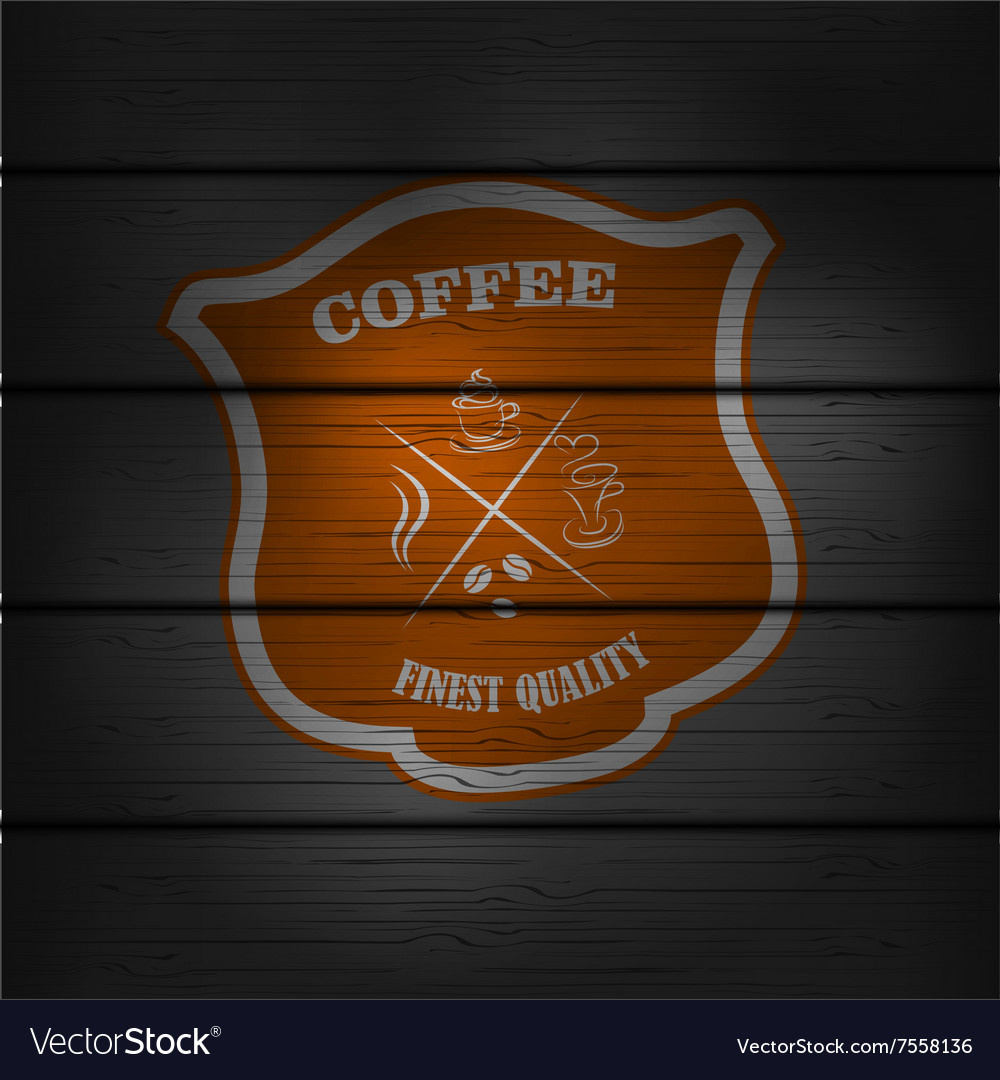 Coffee logo emblem retro design template