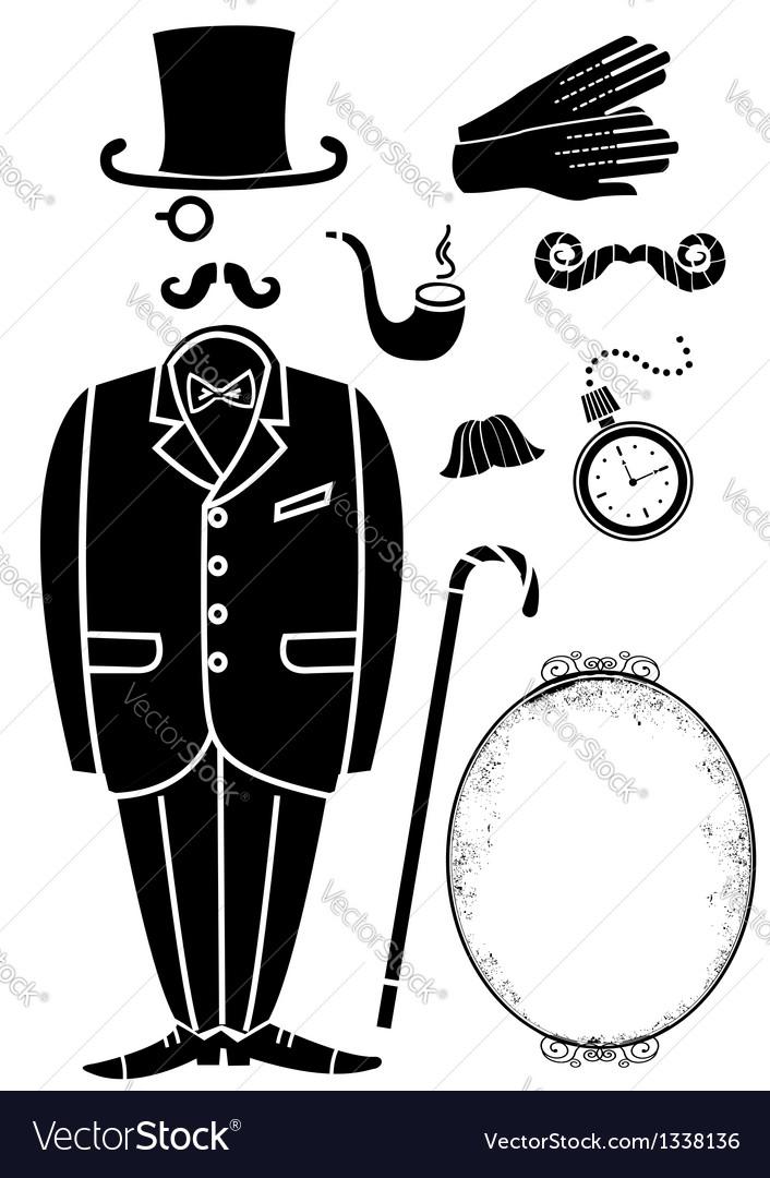 Gentleman retro suit and Accessories