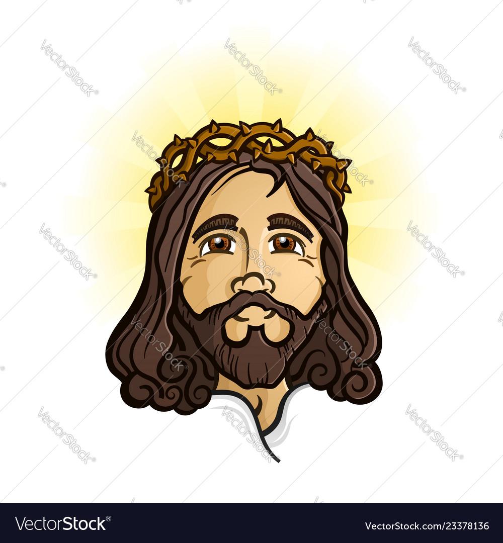 Jesus christ the holy son of god cartoon mascot