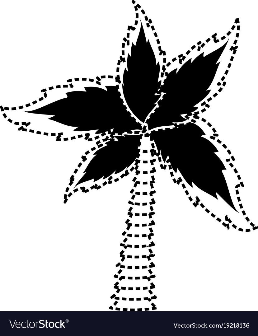 Palm Tree Symbol Royalty Free Vector Image Vectorstock