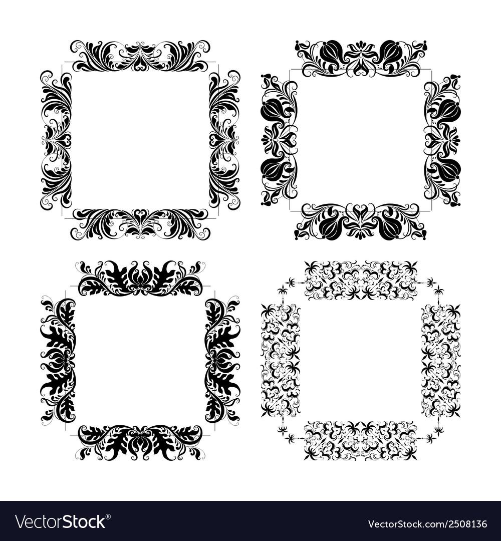 Set of frames for design