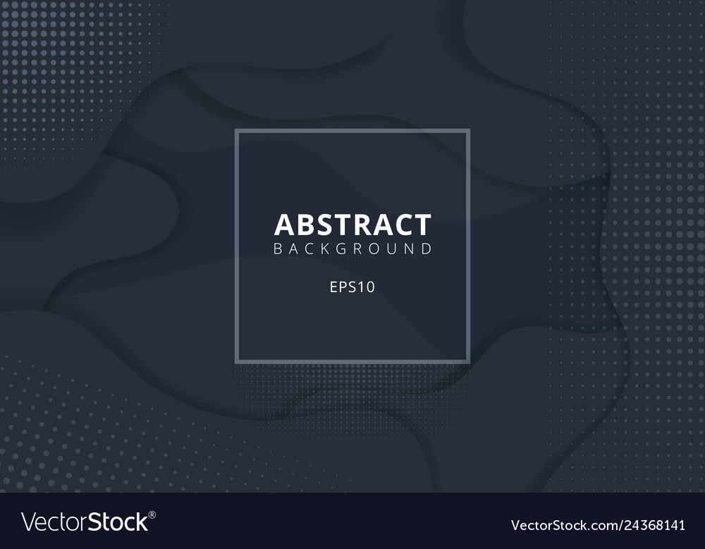 Abstract wavy geometric dynamic 3d black or gray