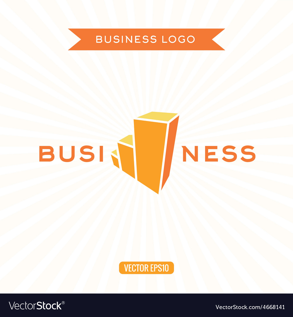 Business logos flat chart stage growth vector image
