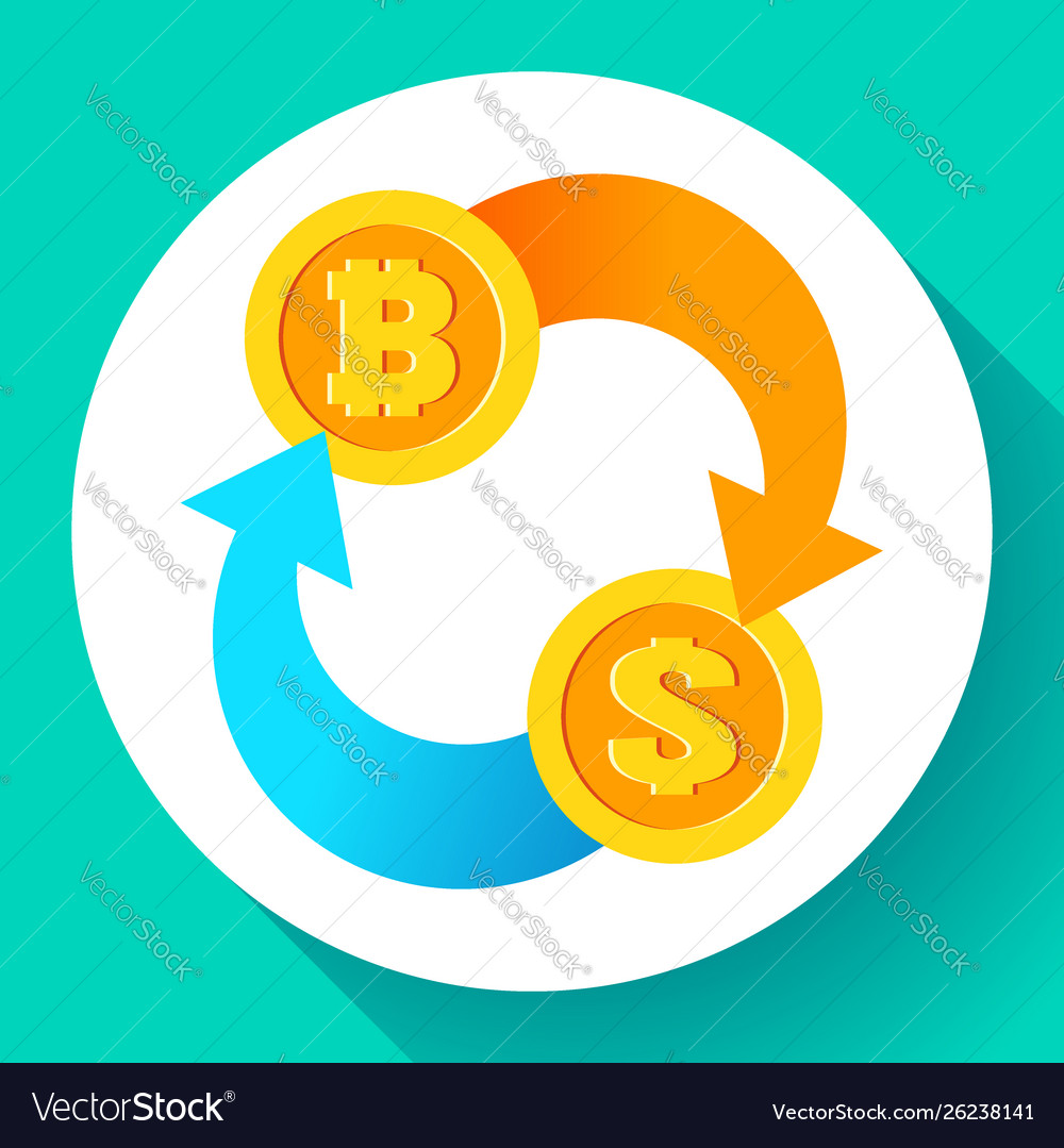 Dollar Icon Usd And Btc Vector Image
