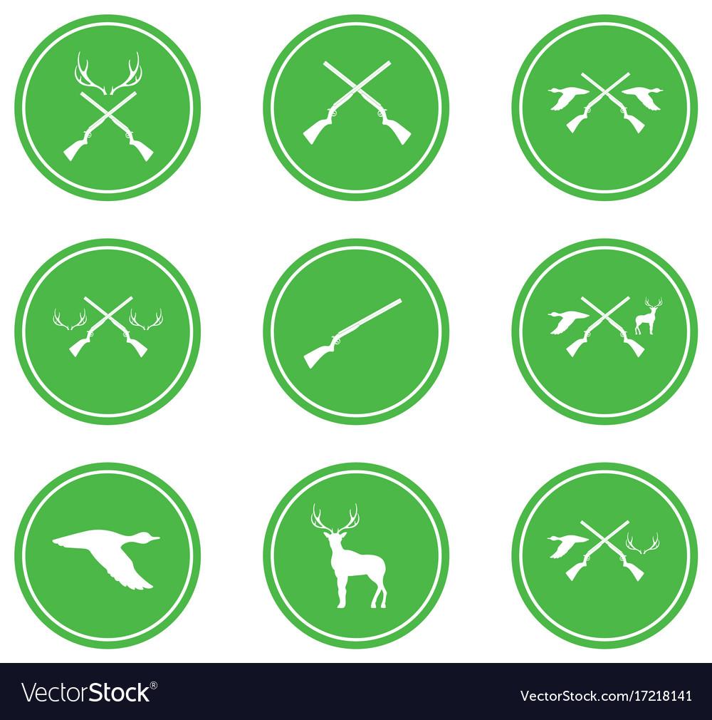 Hunting shot gun icon