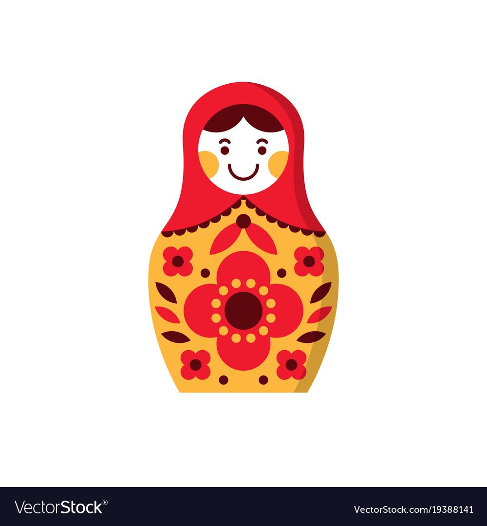 Matryoshka russian nesting doll souvenir russia